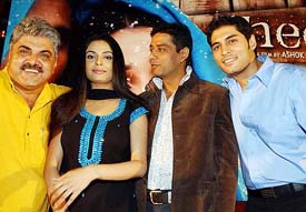 Actress Sheen with actors Tarun Arora and Anup Soni and Director Ashok Pandit at a Press conference