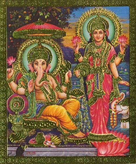 Bhagwaan Ganesha and Laxmi