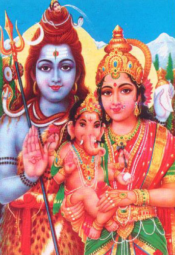Shiv-Parvati with Ganesh