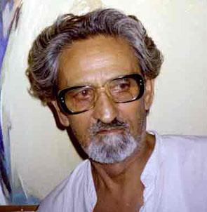 Triloke Kaul,artist-Painter,photo-Kapil Kaul 1995 Jammu