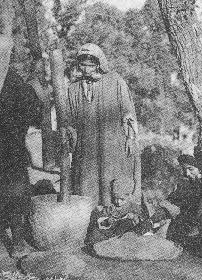 Kashmiri Muslim women at work in a village of Kashmir.